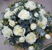 White Tribute Posy